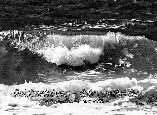 Impressionen > Strand Sylt > Schwarzweiß > Brandung #01