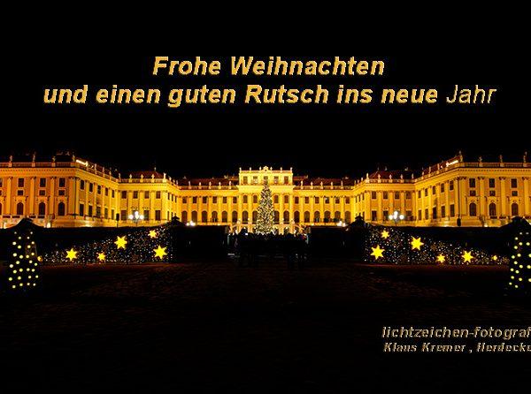 Impressionen >Wien >Schloss Schönbrunn >LichtZeichen Weihnachtsgrüsse