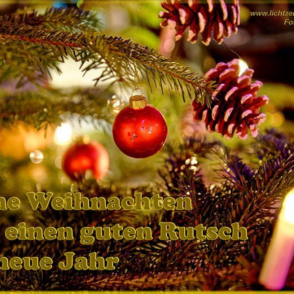Lichtzeichen Weihnachtsgrüße